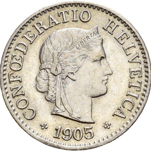 1905 Sveits 5 rappen B, 01