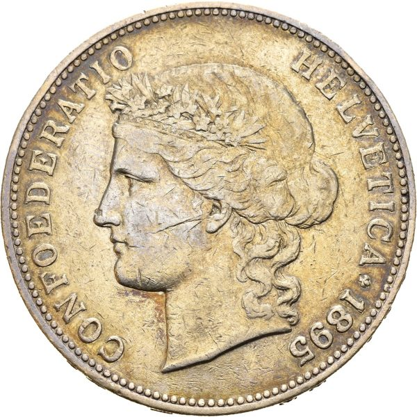 1895 Sveits 5 francs B, 1+