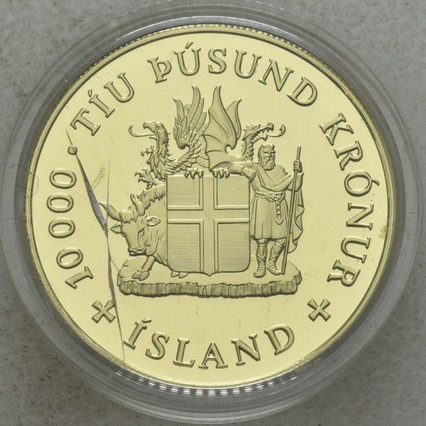 2000 Island 10000 kronur, proof
