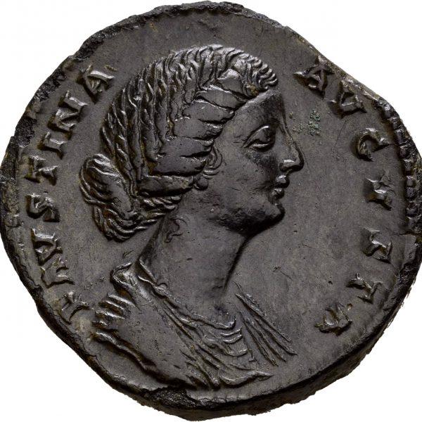 etter 161 AD AE sestertius Faustina Jr. Roma, 1+