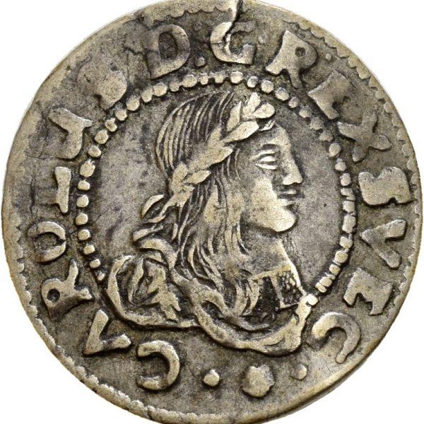 1667  Bremen & Werden 1/16 taler Karl XI., bøyd, 1