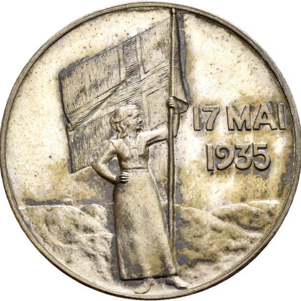 1935 17. mai medalje, sølv uten hempe, 0/01