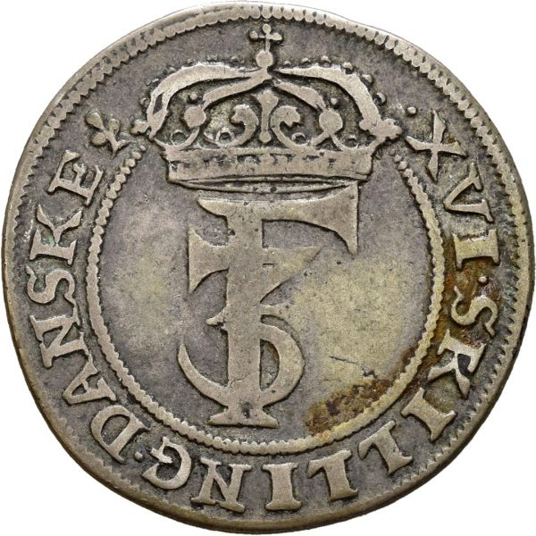 1665 1 mark Frederik III, 1