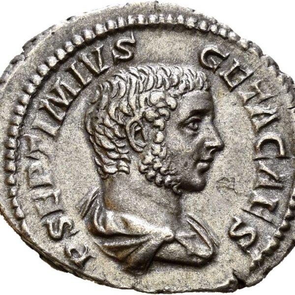 208 AR denarius Geta (209-212), Roma, 01