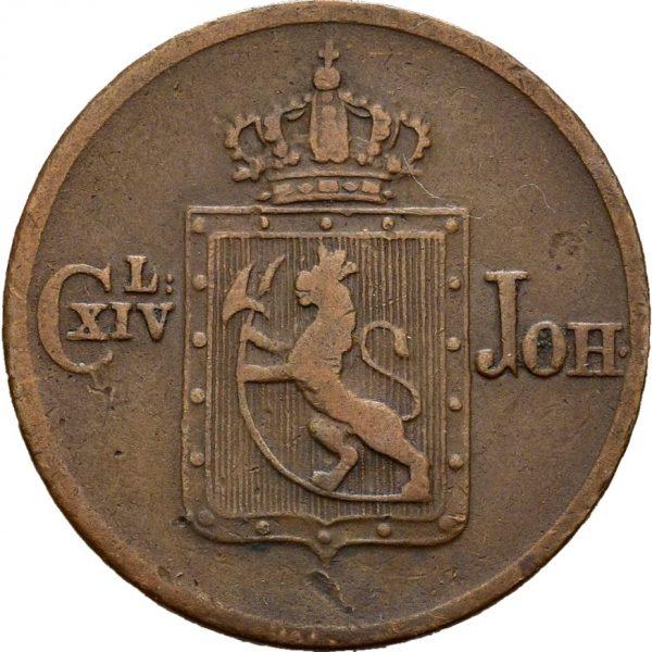 1840 1/2 skilling Carl XIV. Johan, 1/1+