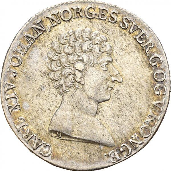 1821  1/2 speciedaler Carl XIV Johan, 1+/01