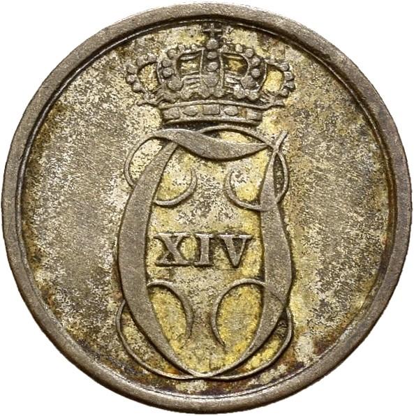 1842 2 skilling Carl XIV Johan, 1+