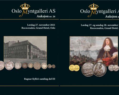 Kataloger for auksjon nr. 26 og 27