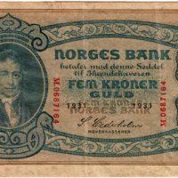 5 kr 1931 m forside